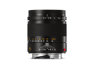 Leica Summarit-M 75 mm f/2.4 black front
