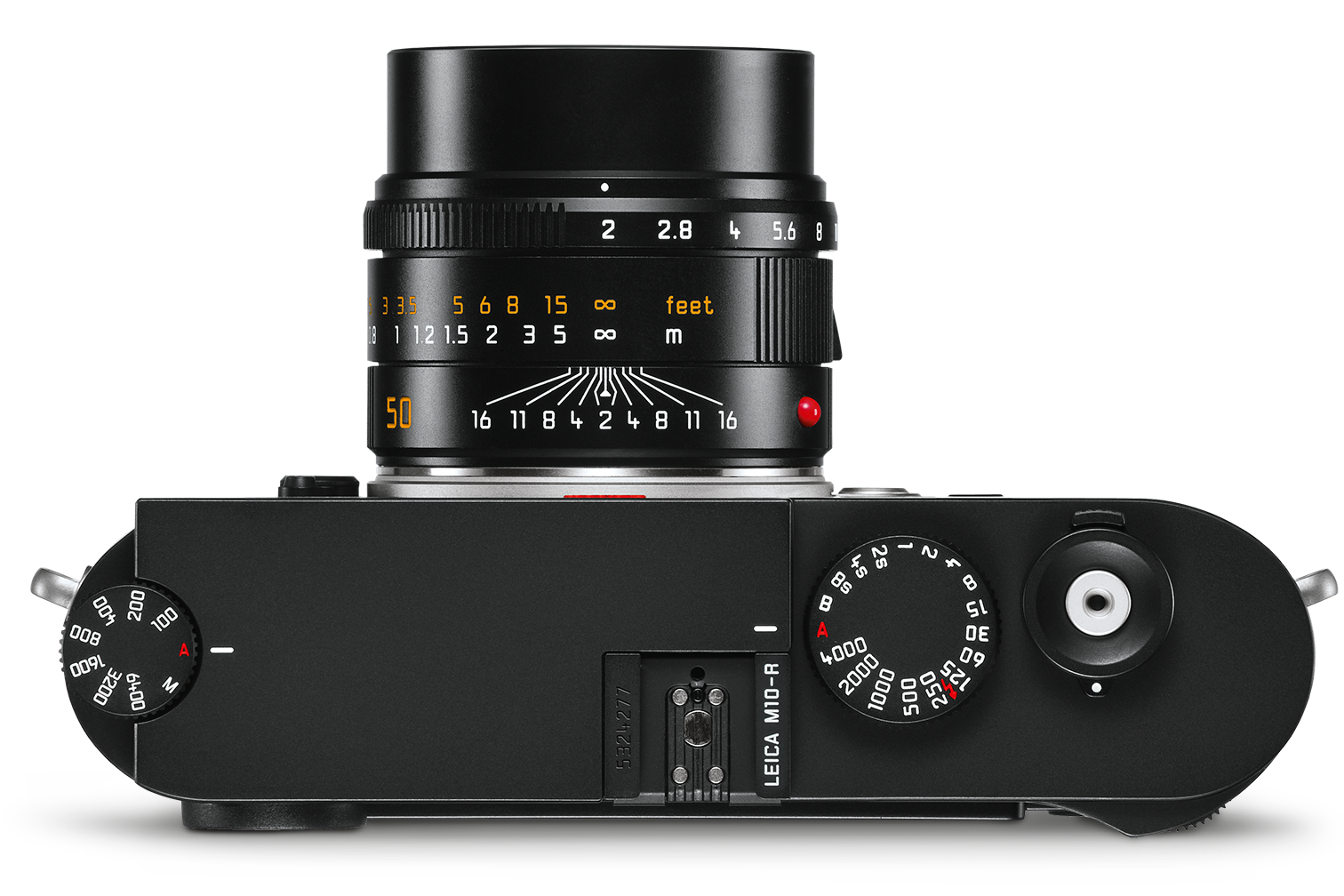Leica M10-R body view from above