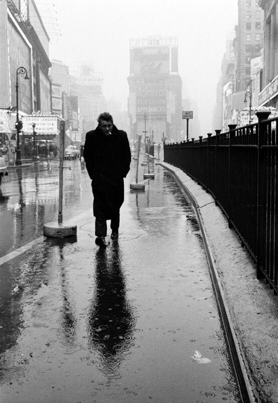 James Dean on Times Square Dennis Stock