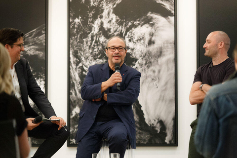 Dr. Andreas Kaufmann (C), Surface Magazine's Editor-in-Chief, Spencer Bailey (L), and renowned filmmaker and photographer Andrew Zuckerman (R).