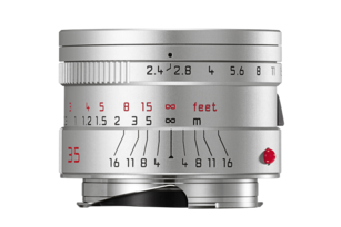 SUMMARIT-M 35 mm/f2.4 ASPH silver anodized finish