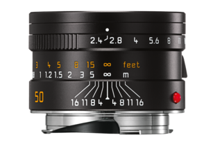 SUMMARIT-M 50 mm/f2.4 black anodized finish