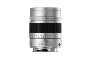 SUMMARIT-M 90 mm/f2.4 silver anodized finish